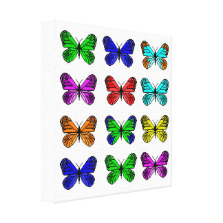 Butterfly pixel art canvas print