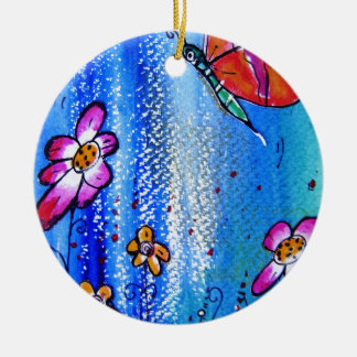 Butterfly -pixi-art.com ceramic ornament