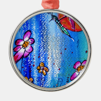 Butterfly -pixi-art.com metal ornament