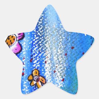 Butterfly -pixi-art.com star sticker