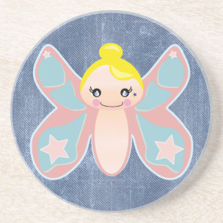 butterfly pixie girl beverage coasters