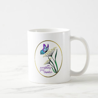 Butterfly & Plant Give Thanks Coffee Mug