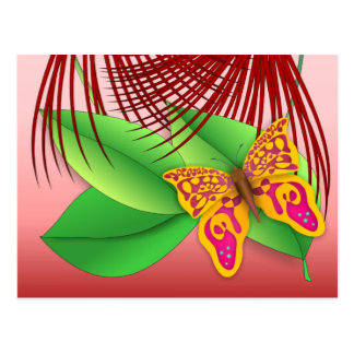 Butterfly & Plants Postcard
