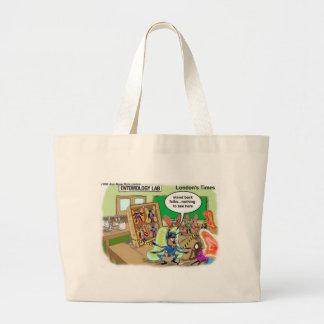 Butterfly Police Offbeat Cartoon Funny Gifts & Tee Jumbo Tote Bag