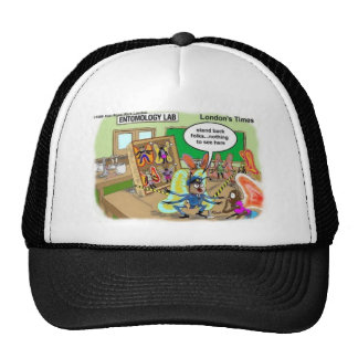Butterfly Police Offbeat Cartoon Funny Gifts & Tee Trucker Hat