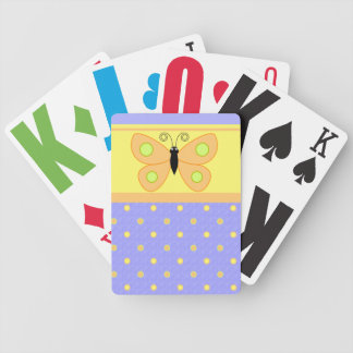 Butterfly Polka Dot Playing Cards