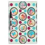 Butterfly Polka Dots Print Dry-Erase Whiteboards