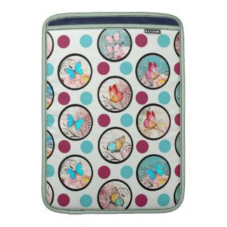 Butterfly Polka Dots Print MacBook Air Sleeve