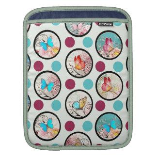 Butterfly Polka Dots Print iPad Sleeve