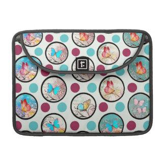Butterfly Polka Dots Print MacBook Pro Sleeves