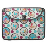 Butterfly Polka Dots Print Sleeve For MacBook Pro