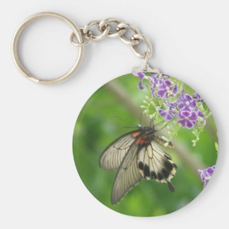 Butterfly Pollinating Keychain