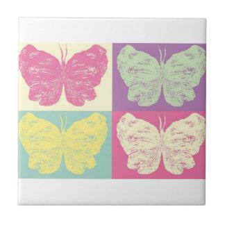 Butterfly Pop Art Ceramic Tile - Design 1