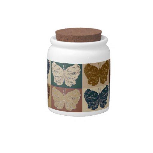 Butterfly Pop Art Design 20 Candy Jar