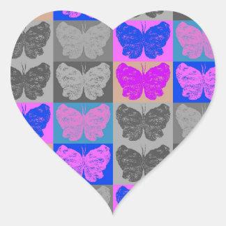 Butterfly Pop Art Design - 7 Heart Sticker