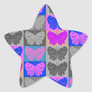 Butterfly Pop Art Design - 7 Star Sticker