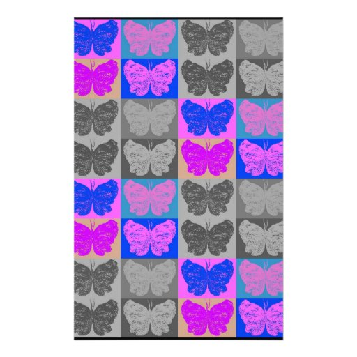 Butterfly Pop Art Design - 7 Stationery Paper