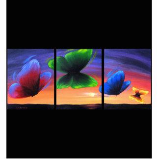 Butterfly Poppy Flower Chicken Photo Sculpture
