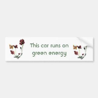 Butterfly Poppy Flowers Illustration Bumper Stickers