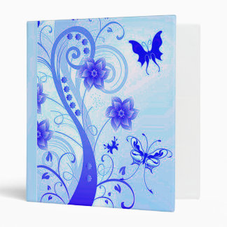 Butterfly Posies 2 3 Ring Binder