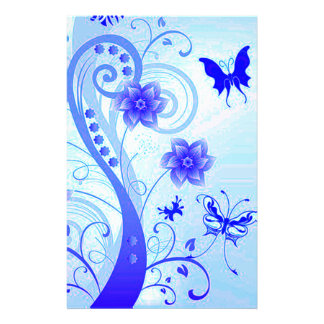 Butterfly Posies 2 Stationery