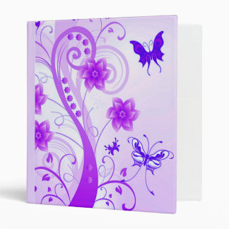 Butterfly Posies 3 Ring Binder