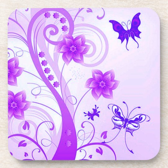 Butterfly Posies Coaster
