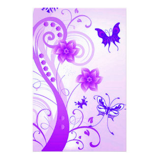 Butterfly Posies Personalized Stationery