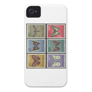 Butterfly Postage Stamps iPhone 4 Case-Mate Case