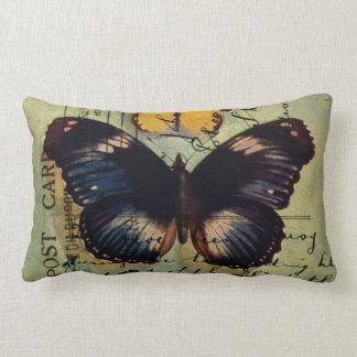 Butterfly Postcard Lumbar Pillow