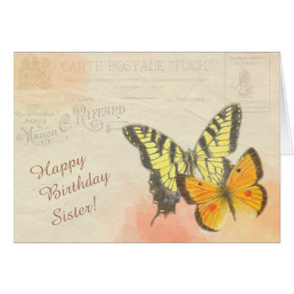 Butterfly Birthday For Sisters Greeting Cards Zazzle Happy Birthday Wishes Butterfly