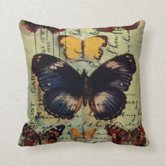 Butterfly Postcard Throw Pillows