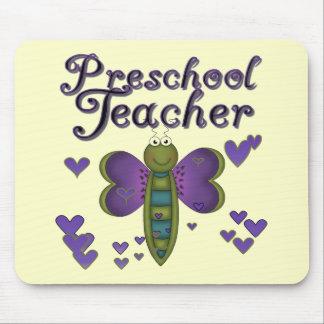 Butterfly Preschool Teacher Tshirts and Gifts Mousepads
