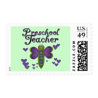 Butterfly Preschool Teacher Tshirts and Gifts Postage