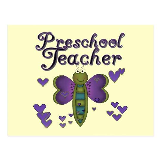 Butterfly Preschool Teacher Tshirts and Gifts Postcard