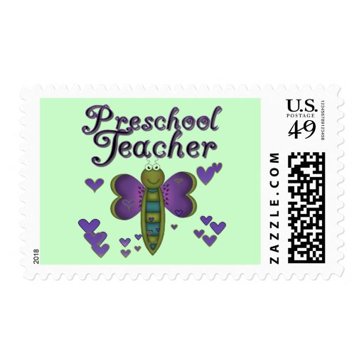 Butterfly Preschool Teacher Tshirts and Gifts Stamp