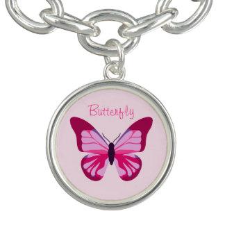 Butterfly Pretty Pink Purple Bracelets