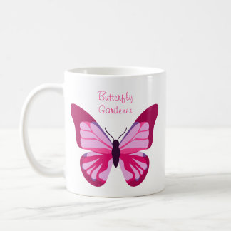 Butterfly Pretty Pink Purple Classic White Coffee Mug