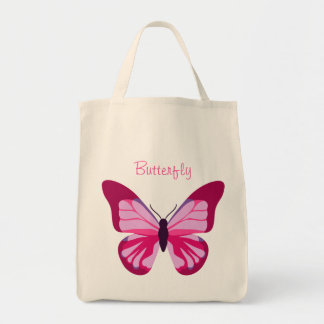 Butterfly Pretty Pink Purple Tote Bag