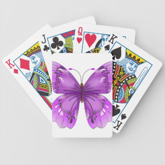 butterfly pretty purple wings flying wing bicycle playing cards
