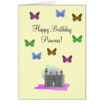 Butterfly Princess Birthday Card
