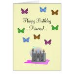 Butterfly Princess Birthday Card