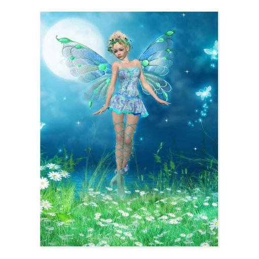 Butterfly Princess Postcard