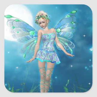 Butterfly Princess Square Sticker