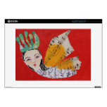 "Butterfly Princess With Musical Wings Art Collage 15"" Laptop Skins"