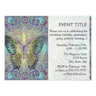 Butterfly Print Personalized Invite