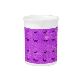Butterfly print purple drink pitcher