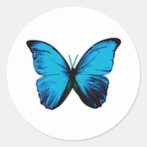 Butterfly Print Round Sticker