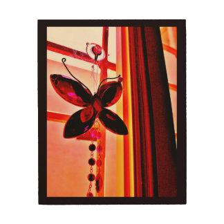 Butterfly Prism Wood Wall Art