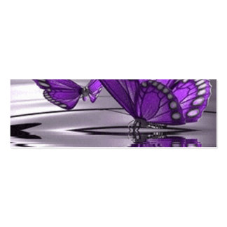 Butterfly Profile Double-Sided Mini Business Cards (Pack Of 20)